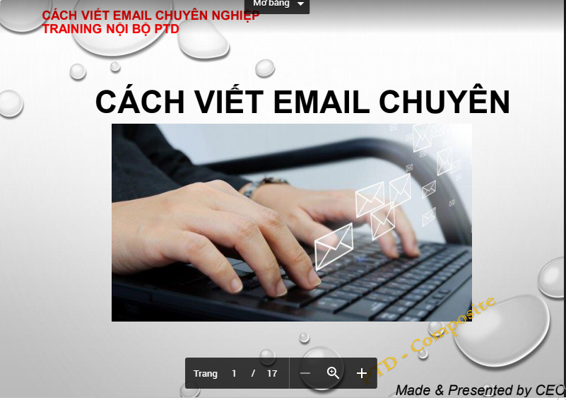 TRAINING NỘI BỘ PTD -  EMAIL